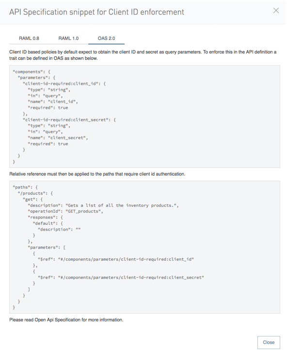 Traits & policies concepts of RAML/OAS based APIs | MuleSoft