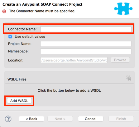 Creating a SOAP Connector | MuleSoft Documentation