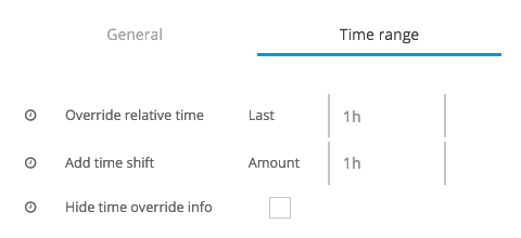 Time Range (Overrides, Time Shifts, Info Display) | MuleSoft