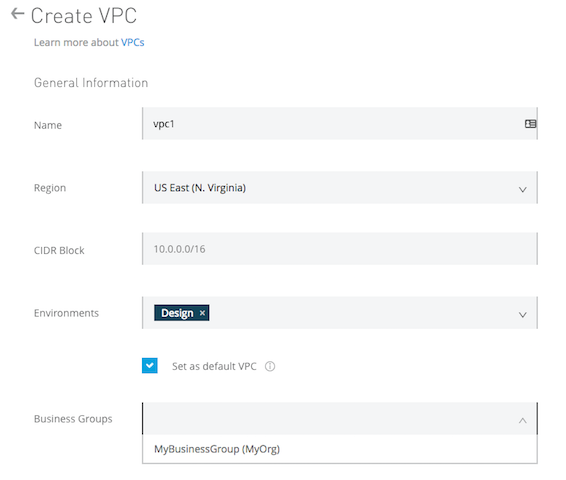 Create and Update a VPC for Runtime Manager | MuleSoft
