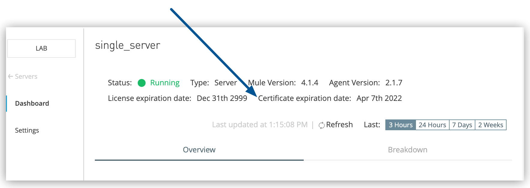 Renew Server Certificates (Hybrid) | MuleSoft Documentation