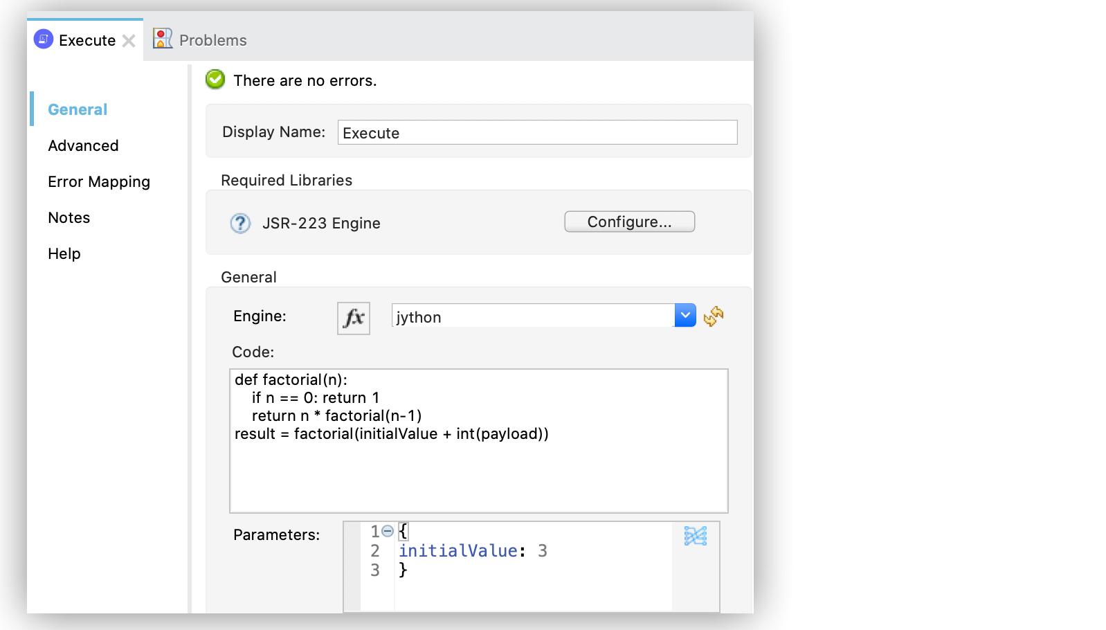 Script using parameters